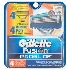 Gillette Fusion Proglide Cartridges - 4 CT, Multicolor