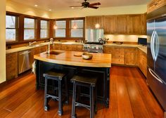 Gourmet Kitchen with Hardwood Throughout