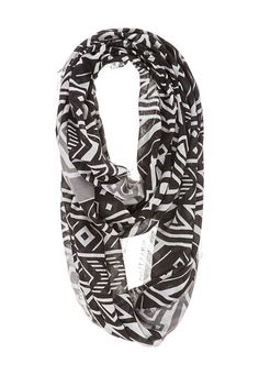 contrast ethnic print infinity scarf (original price, $16) available at #Maurices