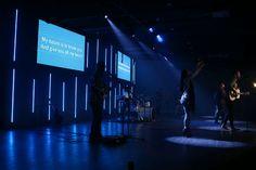 LED Drops from Central Church Miami in Miami, Fl | Church Stage Design Ideas