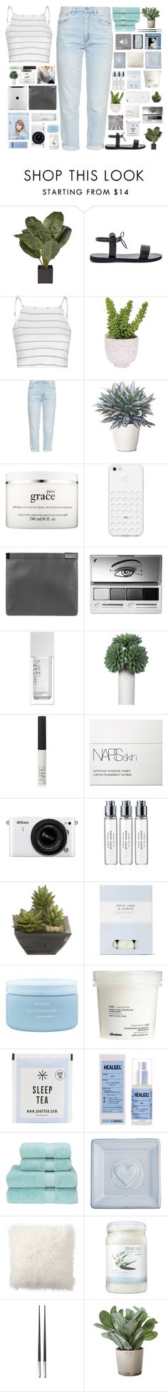 """""""Untitled #2216"""" by tacoxcat ❤ liked on Polyvore featuring Isapera, Glamorous, Lux-Art Silks, M.i.h Jeans, philosophy, Maison Margiela, Clinique, NARS Cosmetics, Nikon and Byredo"""