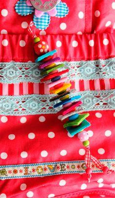 Anhänger aus Filz und Perlen » Schlüssel, Hingucker, Taschen, Anhänger, Filzresten, Perlen » Farbenmix