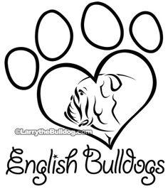 Larry's Bulldog Shop - Love English Bulldogs T-Shirt, $19.99 (http://www.larrythebulldog.com/love-eb-tshirt/)