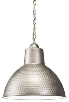 Kichler 78200AP Missoula Single-Bulb Indoor Pendant with Dome-Shaped Metal Shade (industrial)