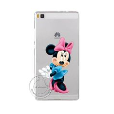 Super Cute Minions Cat Mickey & Minnie Kiss Hard Plastic Case Cover For Huawei Ascend P6 P7 P8 P8 Lite Mini P9 P9 Lite