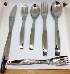 Gourmet Settings Stainless Steel Modern Flatware Silverware Setting NWT 6 Pcs | eBay
