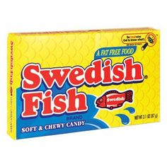 Swedish Fish Chewy Candy, 3.1 oz.