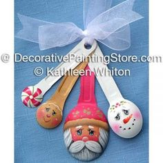 Holiday Measuring Spoons Ornament Pattern - Kathleen Whiton - PDF DOWNLOAD