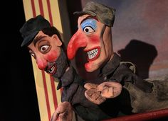 These modern puppets have the characteristics inspired by Punch and Judy puppetry. Puppet Toys, Marionette Puppet, Puppetry Arts, Court Jester, Punch And Judy, Toy Theatre, My Images, Paper Dolls, Creepy