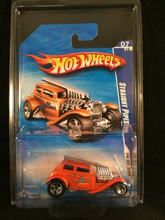 2010 Hot Wheels HW Hot Rods STRAIGHT PIPES Orange #145 R7570 w/ PROTECTO #HotWheels #StraightPipes