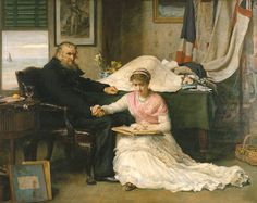 Sir John Everett Millais - 1829/1896 - Pintor Britânico - 'The North-West Passage' (1874).