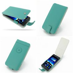 PDair Leather Case for Asus PadFone Infinity A80 - Flip Type (Aqua)