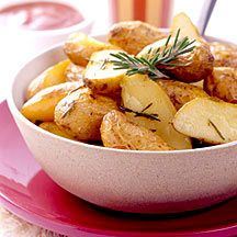Roasted Fingerling Potatoes w/ Broth by Weight Watchers (use veg broth)