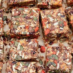 Try this Breakfast Bars 2.0 recipe by Chef Nigella Lawson. This recipe is from the show Simply Nigella.