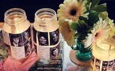 Graduation photo centerpieces