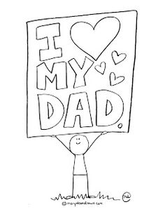 fathers day printable coloring page preschool
