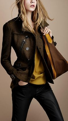 Burberry Jacket=Perfection. If only it were black...