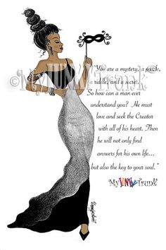 NEW Fashion Illustration-MYSTERIOUS African by MyJunkyTrunk