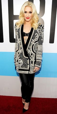 11/19/12: A rocking look for a true rock star! #GwenStefani looked ready to take the stage in an edgy ensemble. #lookoftheday http://www.instyle.com/instyle/lookoftheday/0,,,00.html