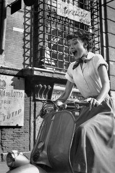 """Audrey Hepburn in """"Roman Holiday"""""""