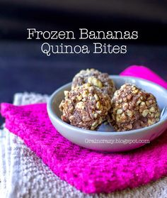Grain Crazy: Frozen Banana Quinoa Bites