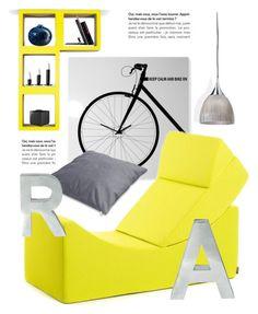 """""""Fun Decor"""" by lovethesign-eu ❤ liked on Polyvore featuring interior, interiors, interior design, casa, home decor, interior decorating, Seletti, Menu, CB2 e yellow"""
