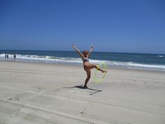 Hula Hooping at my Favorite Beach.  David Alcorn