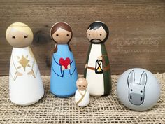 Sweet Peg Doll Nativity Pre-Order by littlethingsHAPPY on Etsy