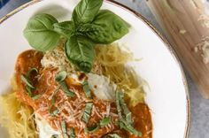 This moist, crispy, filling Baked Chicken Parmesan may be a lightened up Italian classic - but it doesn't skimp on flavor! Serving it over steamed spaghetti squash instead of pasta also cuts those heavy carb-laden calories down to nearly nothing. Classic Italian, Spaghetti Squash, Baked Chicken, Parmesan, Pasta, Baking, Ethnic Recipes, Food, Vintage Italian