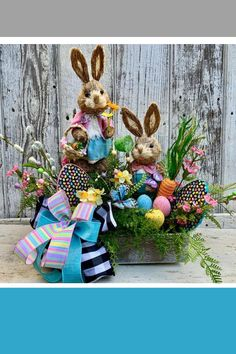 Easter centerpiece created by Trendy Tree customer, Twisted Twigs Decor. It's for sale in her Etsy s Easter Bunny Decorations, Easter Wreaths, Easter Centerpiece, Easter Decor, Holiday Decorations, Easter Ideas, Tree Decorations, Twigs Decor, Wreath Making Supplies