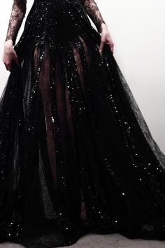 black, sparkle gown