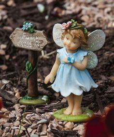 Mini Garden Fairy Statue Set