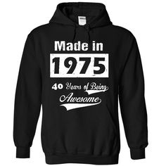 Born in 1975 T-Shirts, Hoodies. CHECK PRICE ==► https://www.sunfrog.com/LifeStyle/Born-in-1975-8362-Black-30016585-Hoodie.html?id=41382