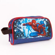 Necessaire Spiderman cu licenta -maner textil si inchidere cu fermoar  Dimensiuni: 20x12x7cm Messenger Bag, Lunch Box, Satchel, Disney, Bags, Character, Handbags, Bento Box, Crossbody Bag