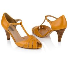 Agnes & Norman Daisy Shoes in Mustard