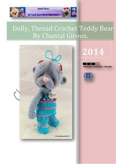 Thread Crochet Teddy Bear pattern by Chantal Bears by ChantalBears, $19.00