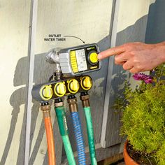 Install an Inexpensive Irrigation System - Smart and Effective Lawn Watering Tips http://www.familyhandyman.com/landscaping/lawn-care/smart-and-effective-lawn-watering-tips#8