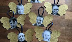 Engle-ophæng - DIY - pralerier Easy Crafts For Kids, Christmas Crafts For Kids, Christmas Printables, Kids Christmas, Diy For Kids, Holiday Crafts, Diy Christmas Door Decorations, Idees Cate, Nouvel An