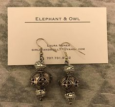 Holy smokes. Metal Beads, Mixed Metals, Bead Earrings, Elephant, Owl, Messages, 21 Days, Facebook, Silver