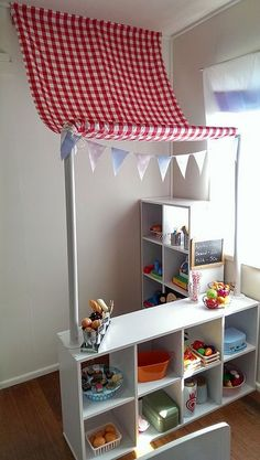 Kindermarkt - New Site Kids Market, Play Market, Home Daycare, Daycare Rooms, Toy Rooms, Kid Spaces, Small Spaces, Play Houses, Classroom Decor