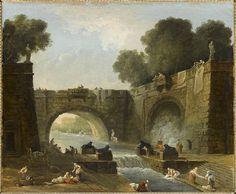 34 Hubert Robert, Landscape with Bridge