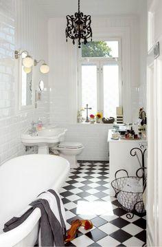 bathroom black and white bathroom ideas bathrooms designs tiles intended for Black Bathroom Floors Decoration Ideas Bathroom Interior, Modern Bathroom, Small Bathroom, Classic Bathroom, Minimalist Bathroom, Master Bathroom, Boho Bathroom, Modern Minimalist, Black White Bathrooms