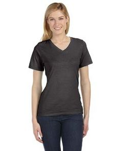 b078f32c45 Bella + Canvas Relaxed Jersey Short-Sleeve V-Neck T-Shirt in Charcoal Black  Triblend