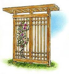 Grillwork Screen Vine Pole