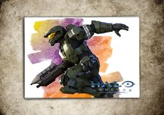 Halo Legends Spartan  Watercolor Print Poster Giclee 13'' x 19'' Super A3 No499 by masterofposter on Etsy