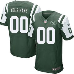 d20ccca75 Nike New York Jets Customized Green Stitched Elite Men s NFL Jersey Nfl Jets