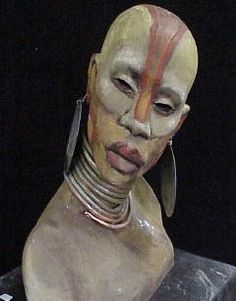 """Somali Girl ~Woodrow Nash part of his ceramic sculptures present an innovative marriage of Century Benin and Century French Nouveau, creating what he has coined """"African Nouveau"""". African American Art, American Artists, Sculpture Clay, Sculpture Images, Ceramic Sculptures, Sculpture Techniques, African Sculptures, Africa Art, Black Artwork"""