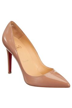 One classic pair of nude pumps. #musthave  #louboutin  #refinery29