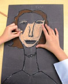 I found this lesson idea over at Art Projects for Kids and decided to try it with my grade three students. I am a new fan of Amedeo Modigliani and the kids are too. After looking at many of the ar. 3rd Grade Art Lesson, Third Grade Art, Art Lessons For Kids, Art Lessons Elementary, Frida Art, Oil Pastel Art, Oil Pastels, Ecole Art, Art Lesson Plans