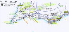 Zobacz co warto zobaczyć w Południowej Portugalii w Algarve. Mapa atrakcji, mapa turystyczna